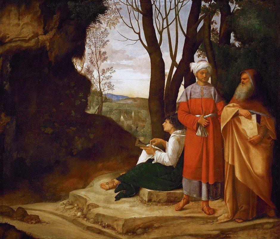( felsefe ) I-4-Giorgione, The Three Philosophers